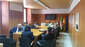 Una delegación de jueces y magistrados visita la Cámara de Cuentas de Andalucía