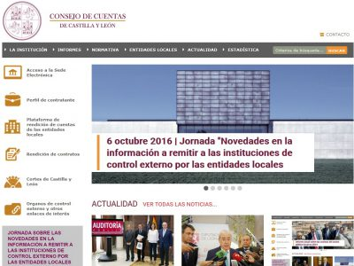 El Consejo de Cuentas de Castilla y León renueva su web para facilitar la consulta en dispositivos móviles