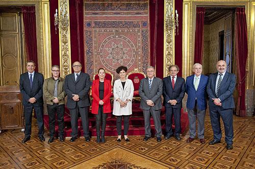 La presidenta del Gobierno de Navarra se reúne con los presidentes de los tribunales autonómicos de cuentas