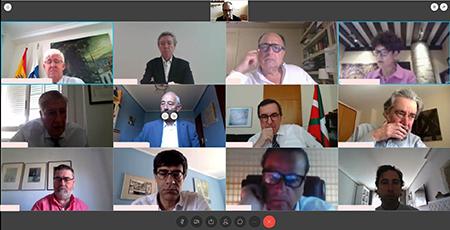 Los presidentes de Asocex se reúnen por videoconferencia